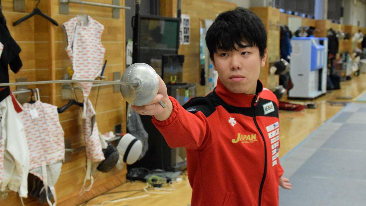 「感動を与えられるような、すごい試合を見せたい」。20歳の若きフェンサーが秘める、東京五輪への決意【敷根崇裕・後編】